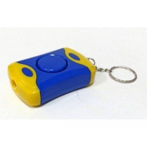 Hangos személyi riasztó - ledlámpával, kulcstartós