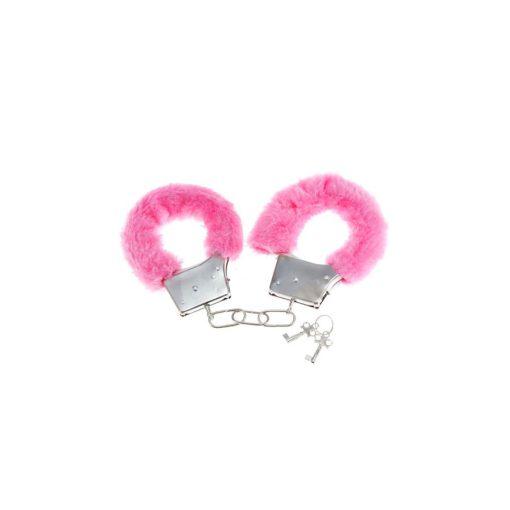 Rózsaszín plüss bilincs 2 db kulccsal